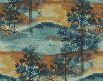 Native Pine Fabric Pine Trees Allover From Quilting Treasures By the Yard