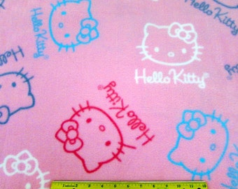 FLEECE Hello Kitty Bows and Sayings Fabric From Springs Creative By the Yard