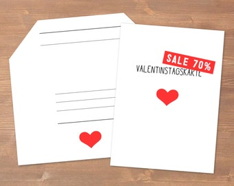 Valentine's Day Card SALE