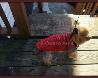 Crochet Dog Sweater , Dog Coat , Small Dog Sweater , Yorkie Sweater , Handmade Dog Sweater , Puppy Sweater , Dog Turtleneck