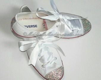 Personalised Converse, Crystal Converse, Pearl Converse, Bridal Converse, Bridal Converse, Crystal Wedding Converse, Wedding Converse