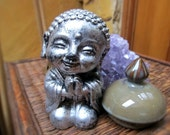 Silver Buddha Figurine, Buddha Statue, Altar Space, Meditation, Reminder, Spiritual