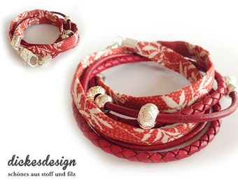 Bracelet «red flower dream».