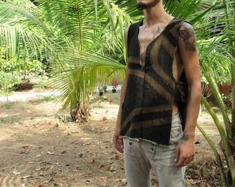 tank top tribal man organic cotton