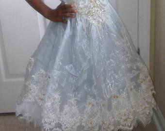 Vintage lil girl pageant/cinderella dress