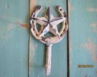 cast iron wall hook vintage style coat hook barn star hook western star