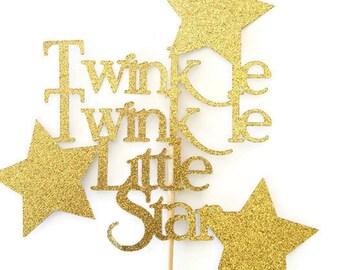 Twinkle Twinkle Little Star Cake Topper, Decorations