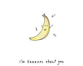 I'm Bananas About You Handmade Giftcard