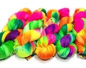 Tropical Punch - Fingering Weight  - 80/20 Superwash Merino/Nylon - 100g - Dye to Order
