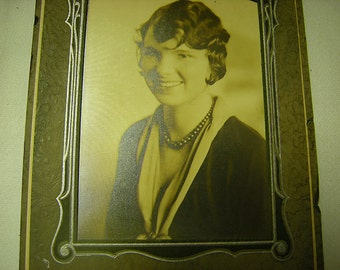 antique photo-young woman portrait-black and white-collage-art-crafts-photo gallery-instant ancestry-