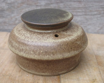 Vintage Denby Pottery Romany Brown Coffee Tea Pot Lid Only