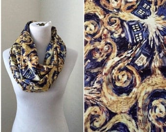 dr who scarf- exploding tardis now available in regular and infinity!