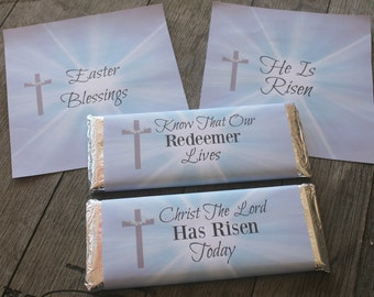 Religious Easter Hershey Bar Wrappers  - Smart Party Planning