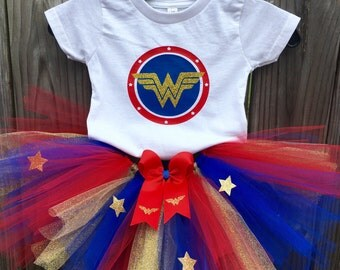 Wonder Woman inspired Tutu Outfit - Wonder Woman inspired Costume