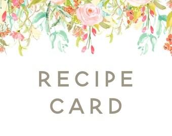 Custom Recipe Card