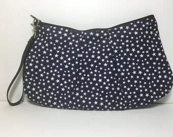 Large Patriotic Stars Wristlet Purse