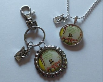 YOU PICK Charlie and the Chocolate Factory Purse Charm/Bag Clip or Necklace