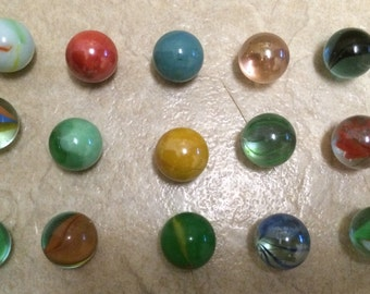 Rare Unique Marble Lot, 15 In All and in GC