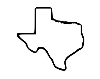 Texas Tattoo - State Outline Tattoo - Temporary Tattoo - Multiple Sizes