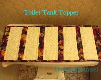 Fall Table Runner, Toilet Tank Topper, Toilet Tank Cover, Modern  Holiday Runner, Bathroom Decor, Table Decor, Commode Cover, Hostess Gift