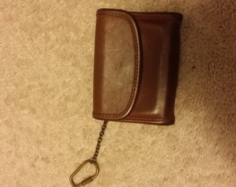 Authentic Vintage  COACH Brown Leather Keychain Wallet