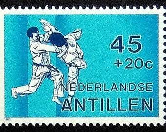 Taekwondo Sports -Handmade Framed Postage Stamp Art 0121