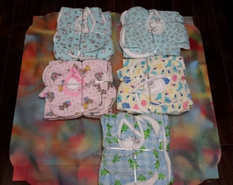 Baby blanket and bib set