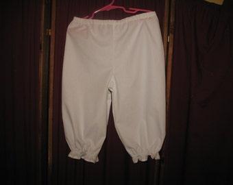white pantalets, size 2T