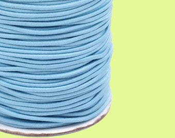 Rubber cord around 2 mm light blue