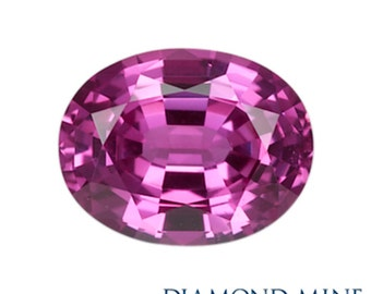 2.38 Carat Pink Sapphire, Oval cut Sapphire, Loose Sapphire Gemstone, Pink Gemstone, Non Heated Real Sapphire