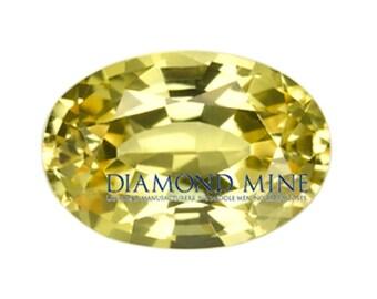 1.31 Carat Yellow Sapphire, Oval cut Sapphire, Loose Sapphire Gemstone, Yellow Gemstone, Non Heated Real Sapphire