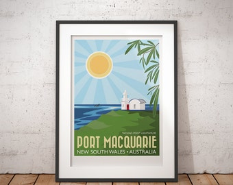 Port Macquarie, New South Wales, Australia - signed travel poster print
