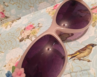 Vintage 1950s Style Pink Flower Sunglasses