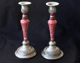 Bat Mitzvah gift Shabbat candlesticks, Modern Judaica, Candlestick holders , hostess gift candle holders, xmas chrismukkah gift