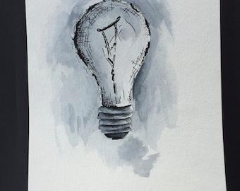 Black & White Light Bulb
