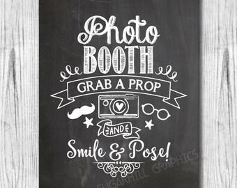 Chalkboard Wedding Sign, Printable Wedding Sign, Chalkboard Wedding Photo Booth Sign, Rustic Wedding Sign, Wedding Signage, Instant Download