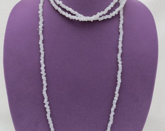 ON SALE !! White stone beads-White Jade Long Strand Irregular Small Beads