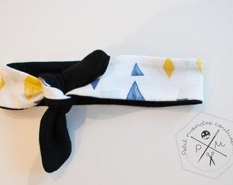 Baby head band - triangle design