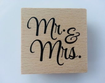 "Block Stamp - ""Mr. And Mrs."""