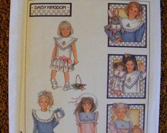 Daisy Kingdom Uncut Simplicity Sewing Pattern 8594 Child's Dress Detachable Collars Size 5
