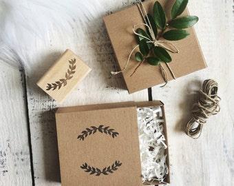 Laurel Wreath Rubber Stamp , laurel leaves, wedding, vintage, leaves, stamping, cards, packaging,