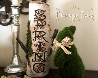 Spring/Wood Signs/Letters/Birch/Woodland Decor/Cabin/Spring Decor/Farmhouse Decor/Easter Gift/Housewarming Gift/Home Decor/Rustic Decor