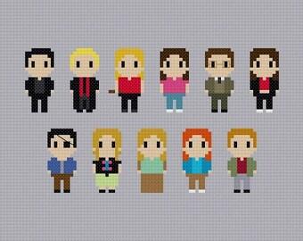 Buffy The Vampire Slayer Characters Cross Stitch Pattern