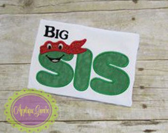 Personalized Turtle Themed Little/Middle/Big Sister Shirt/Bodysuits