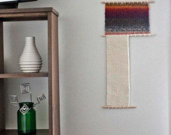moderne tenture tiss e tissage art mural tiss laine. Black Bedroom Furniture Sets. Home Design Ideas