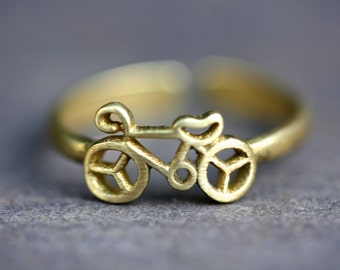 Bicycle Ring, brass ring,  tribal rings, boho rings, ethnic rings, hippie rings, gold rings, antique brass rings, bohemian, tattoo ring