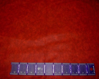 """17x52"""" bolt end CHERRY RED tonal dappled on cotton by MDG."""