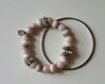 Lavender sherbert dream beaded bracelet