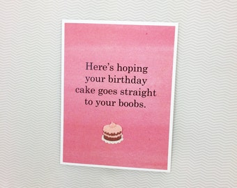 Cake to your Boobs birthday card