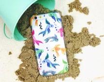 Watercolor Fish iPhone Case - Betta Fish Design For iPhone 6 Plus, iPhone 6s, iPhone SE, iPhone 5, iPhone 5c & More! Clear iPhone Case